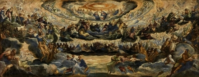 The Crowning of the Virgin or Paradise, Tintoretto, ca 1588. Musée du Louvre, Paris