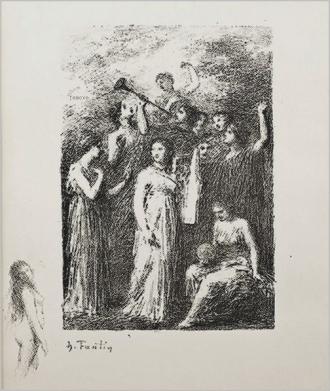 Henri Fantin-Latour Frontispiece to the poems of Andre Chenier