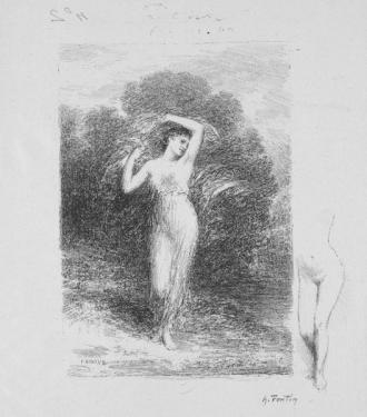 Andre Marie de Chenier Poem La jeune Malade by Henri Fantin-Latour (French, 1836-1904)