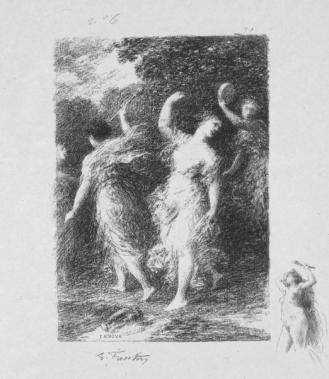 Andre Marie de Chenier Poem Bacchus by Henri Fantin-Latour