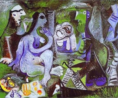 'Almoço na Relva'. Pablo Picasso, 1961. Coleção particular