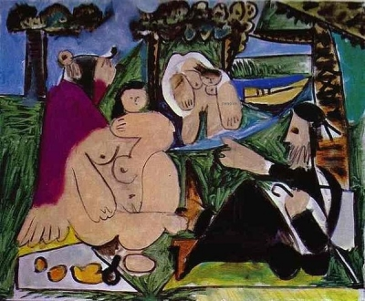 Picasso, Luncheon on the Grass, After Manet. 1961 Galerie Rosengart, Lucerne, Switzerland