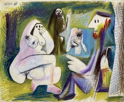 (C)Succession Picasso 2008 - Photo RMN / DR Pablo Picasso (1881-1973), Le déjeuner sur lherbe daprès Manet, 17 juin 1962 Paris, musée Picasso