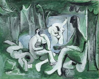 Pablo Picasso - Le Déjeuner sur lHerbe, after Manet, 1961. Musée Picasso, Paris (MP216) © RMN / Jean-Gilles Berizzi / Succession Picasso / DACS 2008