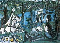 Pablo Picasso (1881-1973), Le déjeuner sur lherbe daprès Manet, 3 mars-20 août 1960, Huile sur toile. H. 130 ; L. 195 cm. Paris, musée Picasso