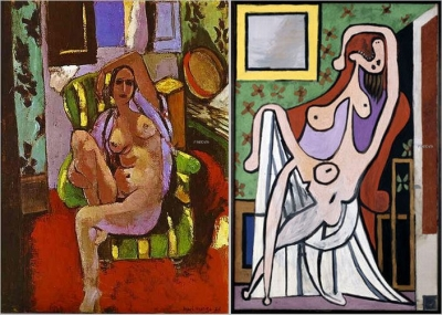 Henri Matisse - Nude Sitting in an Armchair , Grand nu au fauteuil rouge, Pablo Picasso