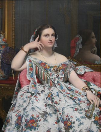 Madame Moitessier 1856, Jean-Auguste-Dominique Ingres The National Gallery, Londres