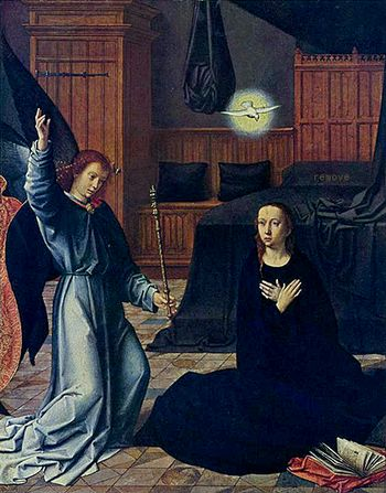 The Annunciation - Gerard David, c.1520
