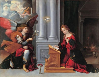 LAnnunciazione (1528) by Benvenuto Tisi da Garofalo