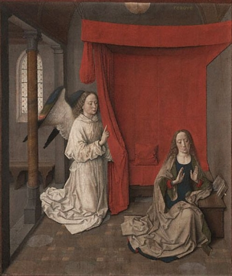 Dirk Bouts The Annunciation 1450 - 1455 The J. Paul Getty Trust