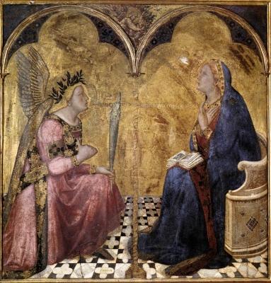 LAnnonciation dAmbrogio Lorenzetti (1344)