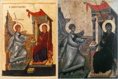 daprès une icône grecque l'ecole de Moscou