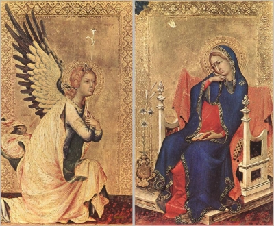 Angel of the Annunciation , The Virgin of the Annunciation 1333 Royal Museum of Fine Arts Antwerp, Belgium
