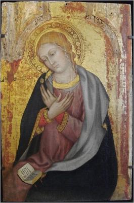 Taddeo di Bartolo, La Vierge de lAnnonciation