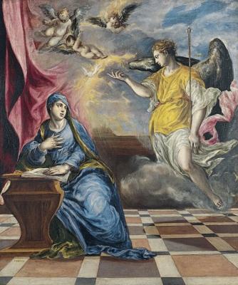 Museo Thyssen-Bornemisza, Madrid El Greco  La Anunciación