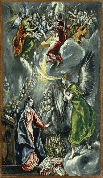 Museo Thyssen-Bornemisza, Madrid El Greco La Anunciación c. 1596-1600