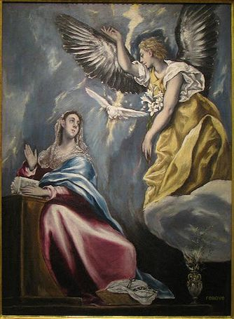 ElGreco, Annunciation c1600 BMFA