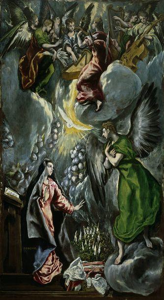 Museo Nacional del Prado El Greco Annunciation