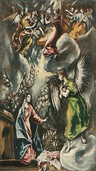 La Anunciación 1596-1600. Museo de Bellas Artes, Bilbao, España