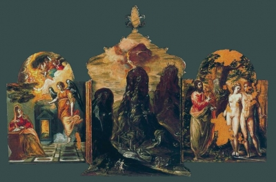 Tríptico de Módena 1567-1569.  Abierto. Galleria Estense. Módena