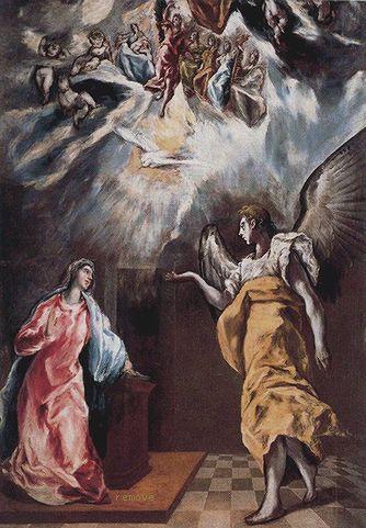 La Anunciación 1608-14. Colección Santander Central Hispano, Madrid, España