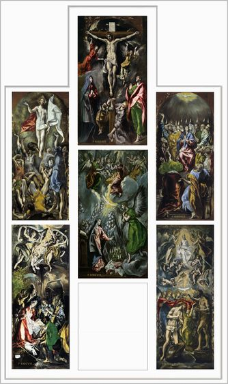 El Greco Reconstrucción hipotética del retablo de doña María de Aragón