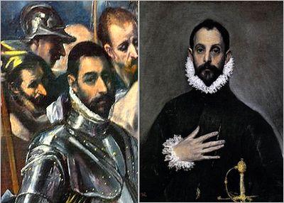 El Greco Nobleman self-portrait