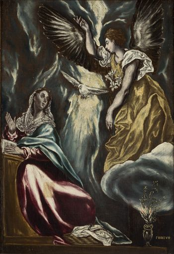 El Greco, Domenikos Theotokopoulos  Anunciação  Museu de Arte de São Paulo
