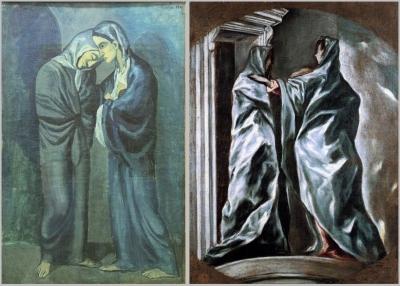 Deux soeurs de Pablo Picasso, huile sur toile, France, 1902
