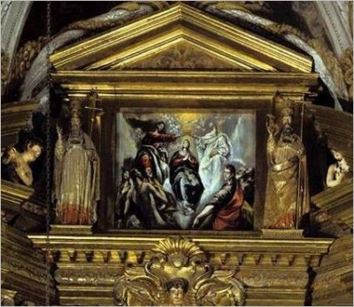 The Coronation of the Virgin 1597-99 by EL GRECO