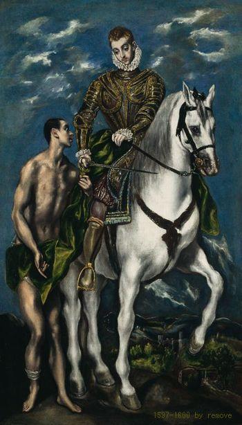 El Greco (Domenikos Theotokopoulos)  Saint Martin and the Beggar, 1597/1600  The Art Institute of Chicago