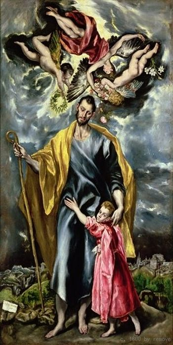 St Joseph and the Christ Child c. 1600 Museo de Santa Cruz, Toledo