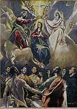 The Coronation of the Virgin(church of Talavera la Vieja in Toledo) 1591 Museo de Santa Cruz, Toledo