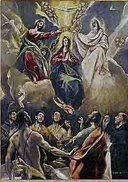 The Coronation of the Virgin(church of Talavera la Vieja in Toledo) 1591 Museo de Santa Cruz, Toledo