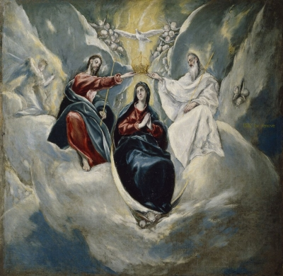 El Greco (y taller) The Coronation of the Virgin 1592 Museo Nacional del Prado
