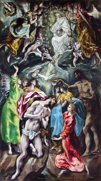 The Baptism of Christ 1608-28 Hospital Tavera, Toledo