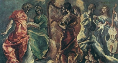 EL GRECO Angelic Concert  c. 1610 National Gallery, Athens