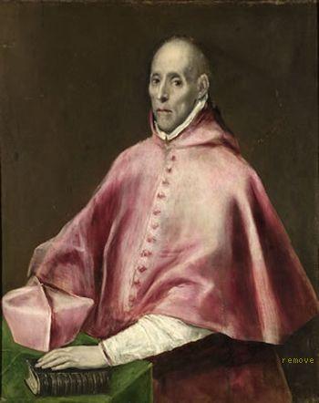 Doménikos Theotokopoulos, EL GRECO Retrato del Cardenal Juan Pardo Tavera ca. 1610 Hospital de Tavera