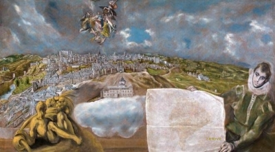 View and plan of Toledo. El Greco Museum. Toledo