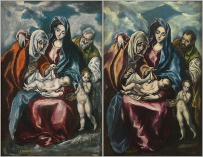 The Holy Family with Saint Anne and the Infant John the Baptist by El Greco (Domenikos Theotokopoulos)
