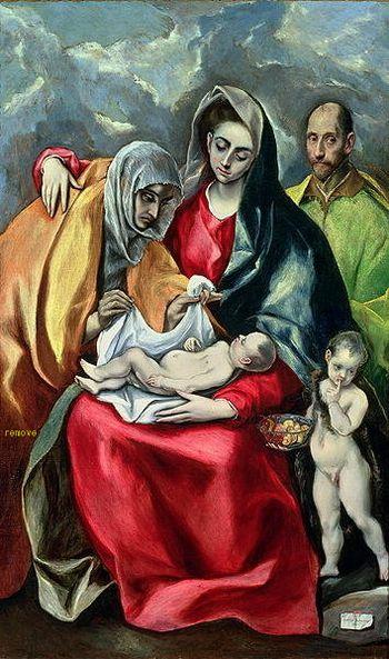 The Holy Family El Greco (Domenikos Theotokopoulos) Museo de Santa Cruz, Toledo
