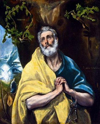 El Greco San Pedro en lágrimas, (St. Peter in Tears), Ca.1587-1620. Toledo, Museo del Greco
