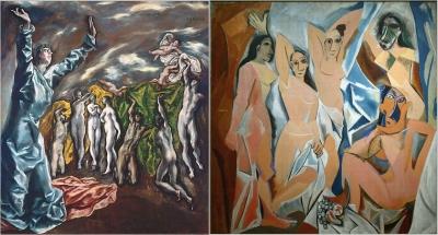 Les Demoiselles dAvignon, 1907, Pablo Picasso MOMA, The Museum of Modern Art, New York
