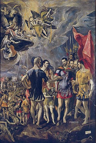 The Martyrdom of St Maurice by EL GRECO Chapter House, Monasterio de San Lorenzo, El Escorial