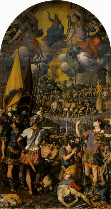 Romulo Cincinnato - The Martyrdom of St. Maurice 1583 El Escorial, Monasterio de El Escorial