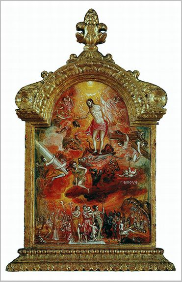 The Modena Triptych (front panels) Allegory of a Christian Knight