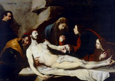 José de Ribera Entombment. Chapter House,  San Lorenzo, El Escorial