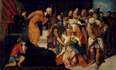 Jacopo Robusti Esther before King Ahasuer,1548 Chapter House,  San Lorenzo, El Escorial