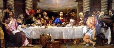 Tiziano la ultima cena 1558 Chapter House, San Lorenzo, El Escorial