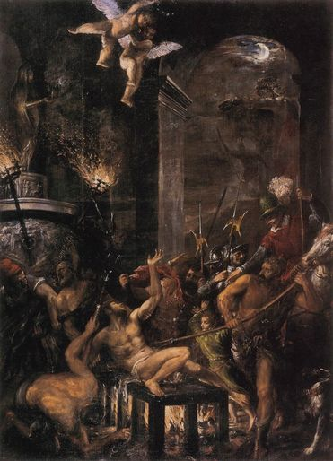 The Matyrdom of St Lawrence by Titian